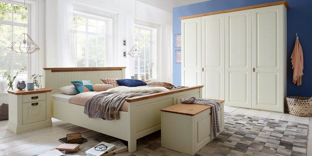 schlafzimmer weiss kiefer - komplett - massivholz-möbel in goslar ... - Landhaus Schlafzimmer Weiß