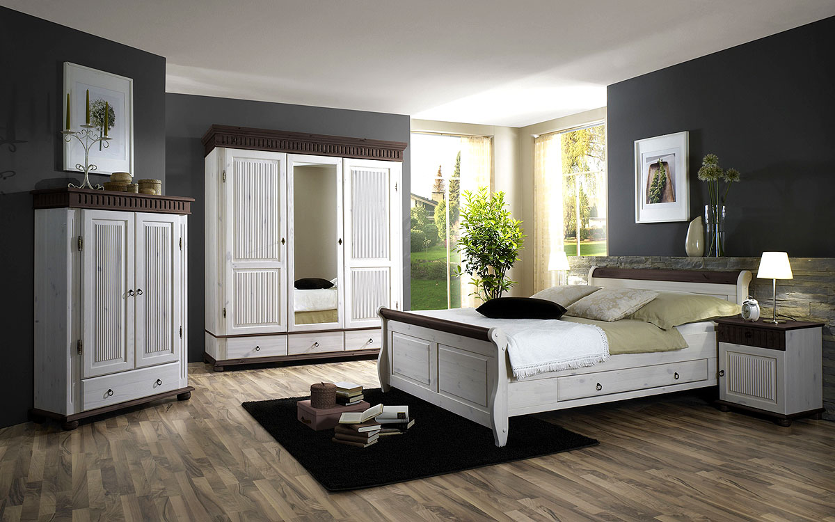 landhausm bel schlafzimmer wei. Black Bedroom Furniture Sets. Home Design Ideas