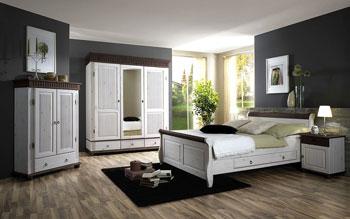 Schlafzimmer weiss - Kiefer massiv - Preis auf Anfrage