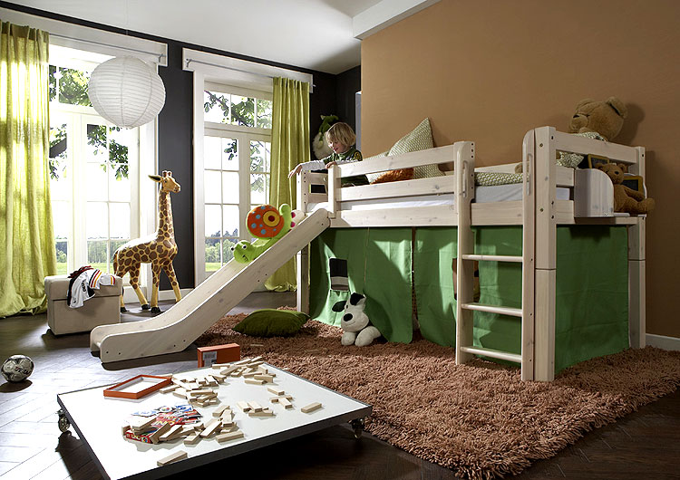 kinderzimmer mit hochbett kinderzimmer lilith in wei rosa. Black Bedroom Furniture Sets. Home Design Ideas