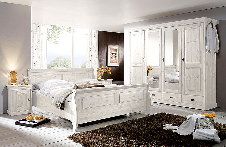 schlafzimmer weiss kiefer komplett massivholz m bel in. Black Bedroom Furniture Sets. Home Design Ideas