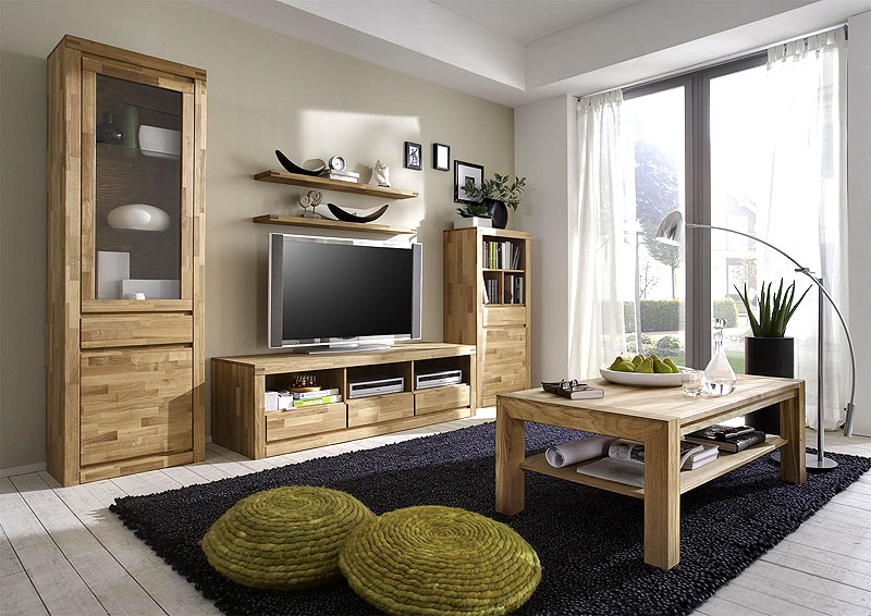 wohnzimmerm bel aus holz m belideen. Black Bedroom Furniture Sets. Home Design Ideas