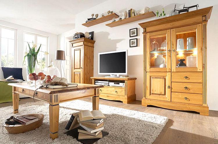 wohnzimmermöbel holz massiv | möbelideen, Wohnzimmer