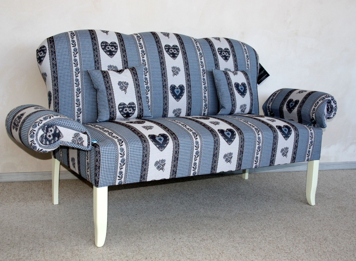Friesensofa landhausstil blau leer massivholz mobel in for Küchensofa landhausstil