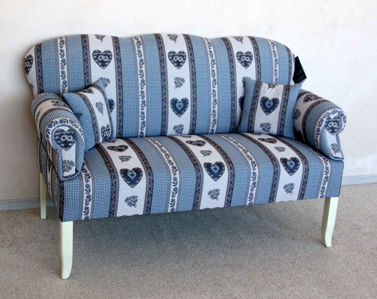 friesensofas landhausstil blau leer Massivholz Möbel in