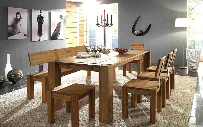 Massivholzmöbel Esstisch - Esszimmermöbel Konferenztisch