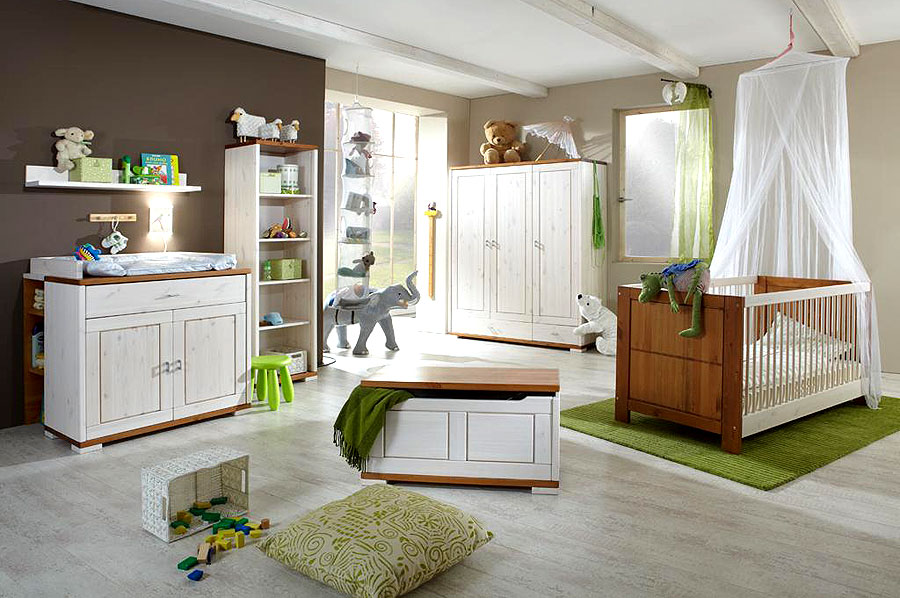 babyzimmer weiss kate kiefer massiv massivholzm bel. Black Bedroom Furniture Sets. Home Design Ideas