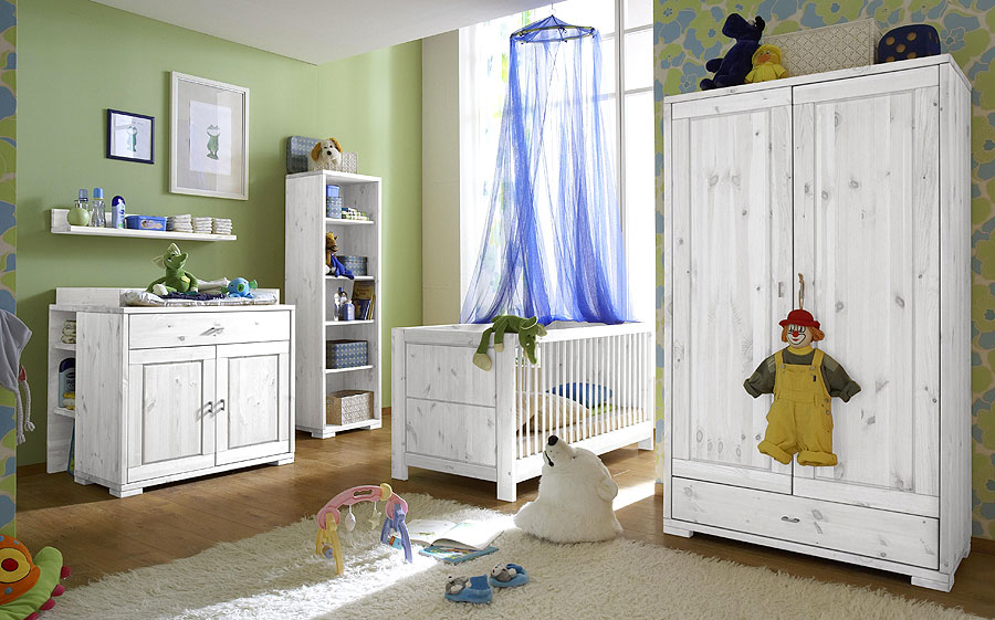 massivholzm bel weiss babyzimmer kate kiefer massiv. Black Bedroom Furniture Sets. Home Design Ideas