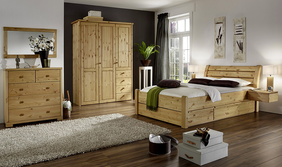 High Quality Massivholzmöbel Schlafzimmer Kate Komplett   Kiefer Massiv Oberfläche  Gelaugt Awesome Design