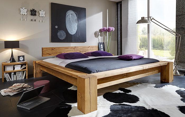 Massiholzmöbel Balkenbett jedes ein Unikat aus massiver Kiefer