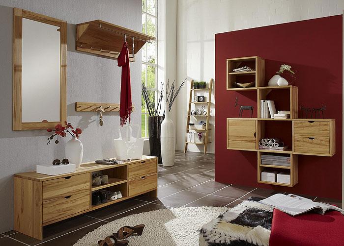 Dielenmöbel-Set aus Kernbuche - massiv Holz hergestellt - Take It
