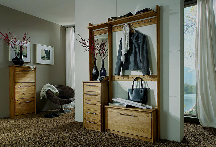 garderobe wildeiche trendy tilde von pure natur garderobe wildeiche bianco with garderobe. Black Bedroom Furniture Sets. Home Design Ideas