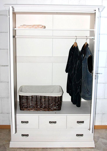 KInderzimmerschrank weiß Odette - Kiefer Massivholz