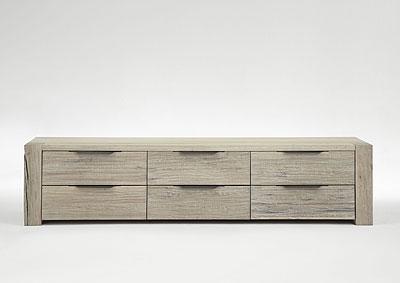 Sideboard Balkeneiche Oberfläche weiß gewischt - massiv Holz