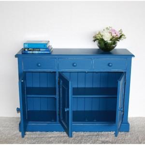 Anrichte Massivholz blau shabby vintage