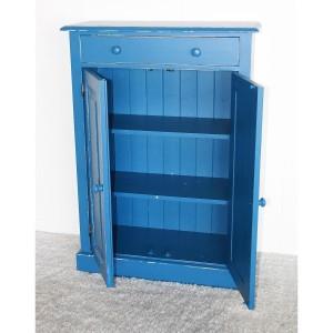 Wäscheschrank blau Shabby Chic