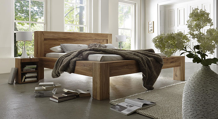 balkenbett wildeiche massiv holz grande bodahl moebler. Black Bedroom Furniture Sets. Home Design Ideas