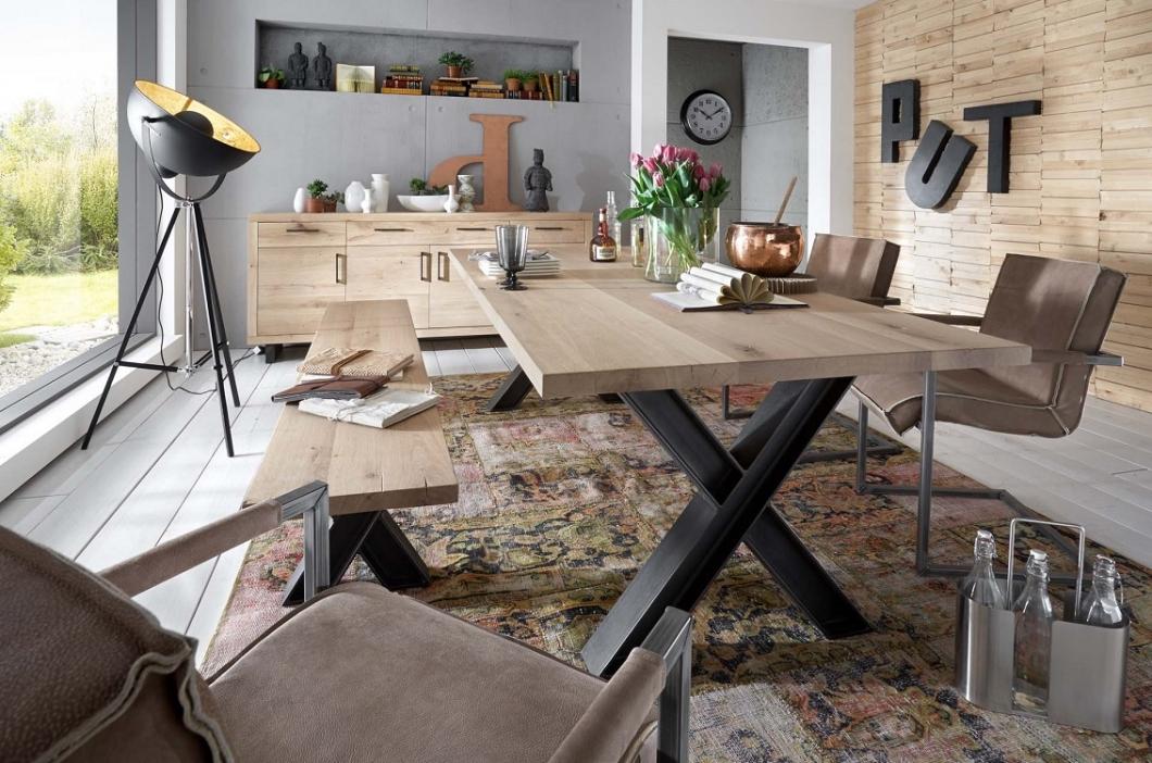 echtholz esszimmer wildeiche bianco w2 massivholz m bel. Black Bedroom Furniture Sets. Home Design Ideas