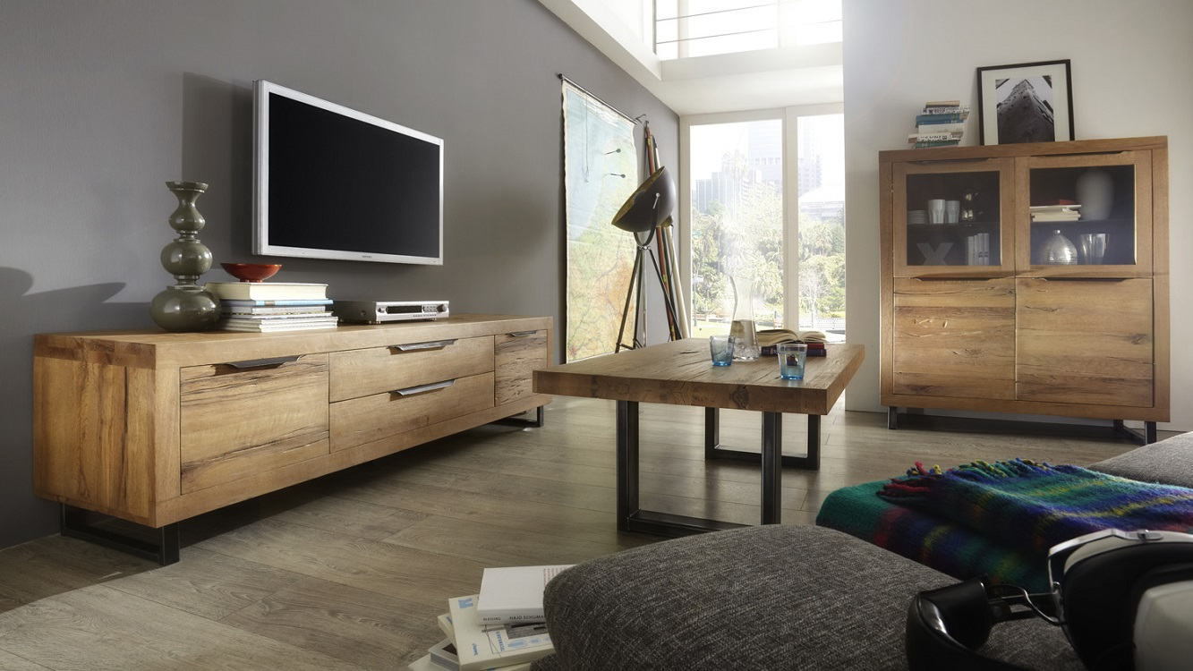 Massivholzmöbel wohnzimmer  echtholz-wohnzimmer-balkeneiche-desert-m2 - Massivholz-Möbel in ...