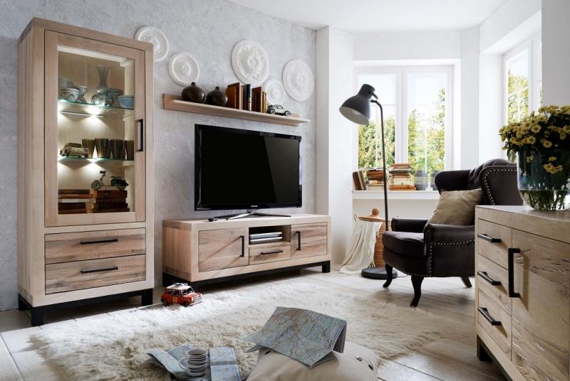 Echtholz wohnzimmer eiche sand vo7 massivholz m bel in for Wohnzimmer massivholz