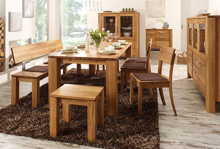 Esszimmermöbel eiche  Esszimmer Set Odeus Eiche massiv Holz geoelt Wimmer Wohnkollektion ...