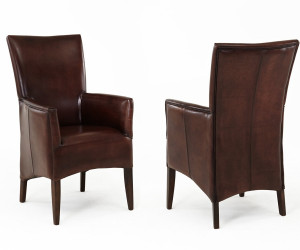 Hochlehner Stühle Leder braun