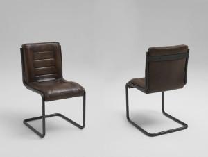 Esstisch Stuhl Leder braun Shabby Chic