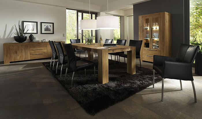 esszimmer wildeiche massiv holz bodahl m beler. Black Bedroom Furniture Sets. Home Design Ideas
