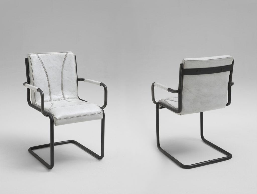 freischwinger stuhl leder weiss vintage look franco massivholz m bel in goslar massivholz. Black Bedroom Furniture Sets. Home Design Ideas