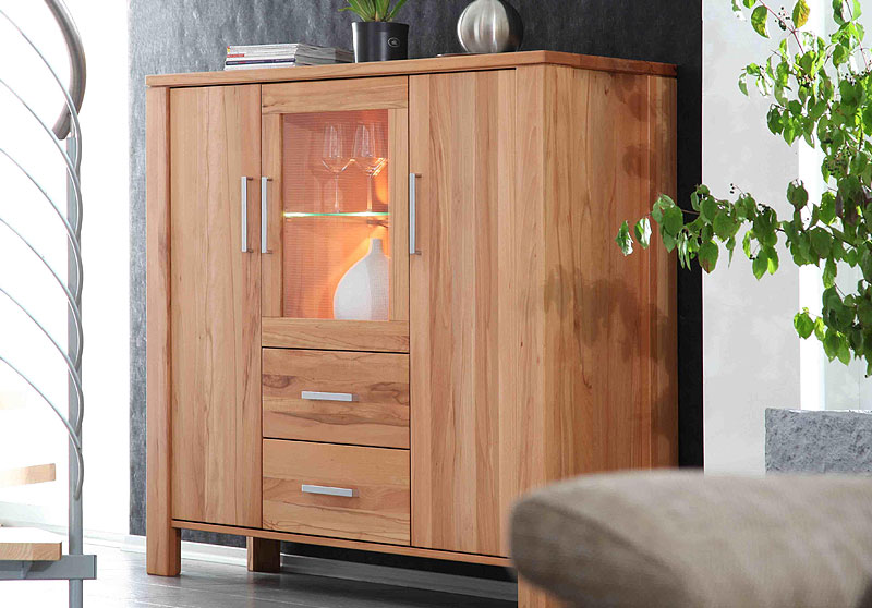 highboard echtholz trendy shan by wolf mbel with highboard echtholz top esszimmer highboard. Black Bedroom Furniture Sets. Home Design Ideas