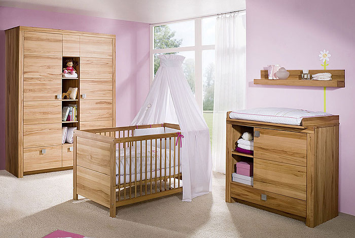 babyzimmer set komplett kernbuche massiv holz geoelt. Black Bedroom Furniture Sets. Home Design Ideas
