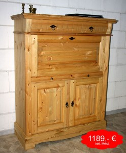 angebot sekret r massivholz kiefer oberfl che gelaugt ge lt massivholz m bel in goslar. Black Bedroom Furniture Sets. Home Design Ideas