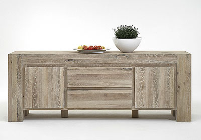 Sideboard Boston Eiche Massivholz Oberfläche weiß geölt - Bodahl Möbler