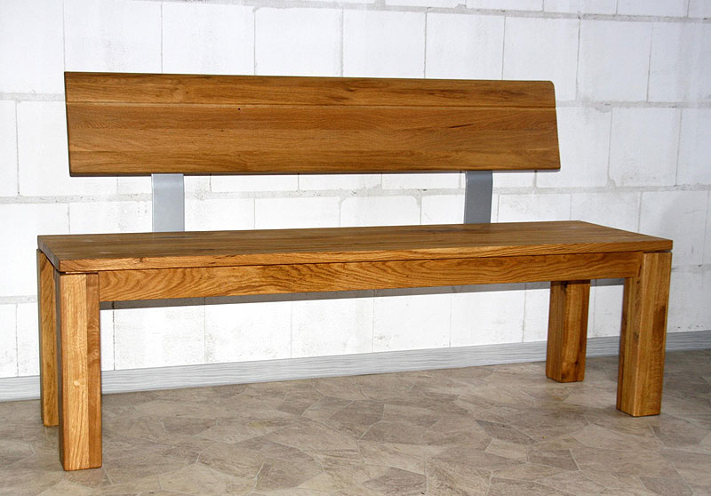 sitzbank mit r ckenlehne odeus eiche massiv holz ge lt wimmer wohnkollektion massivholz m bel. Black Bedroom Furniture Sets. Home Design Ideas