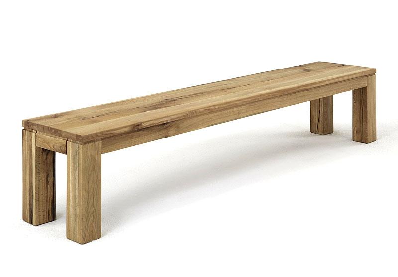 Sitzbank Toulouse Wildeiche massiv Holz geölt Bodahl Moebeler