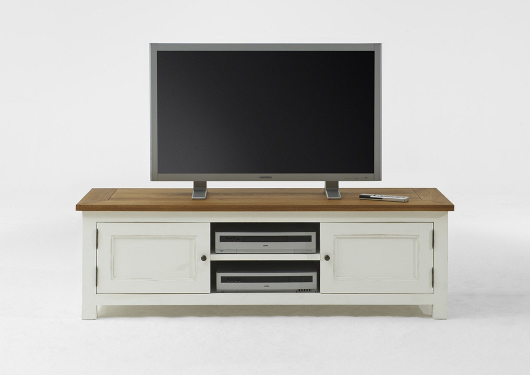 tv bank landhaus massivholz weiss t1 massivholz m bel in. Black Bedroom Furniture Sets. Home Design Ideas