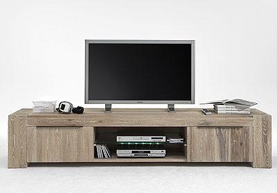 TV-Lowboard Eiche Massivholz - Oberfläche white wash - Bodahl Möbler