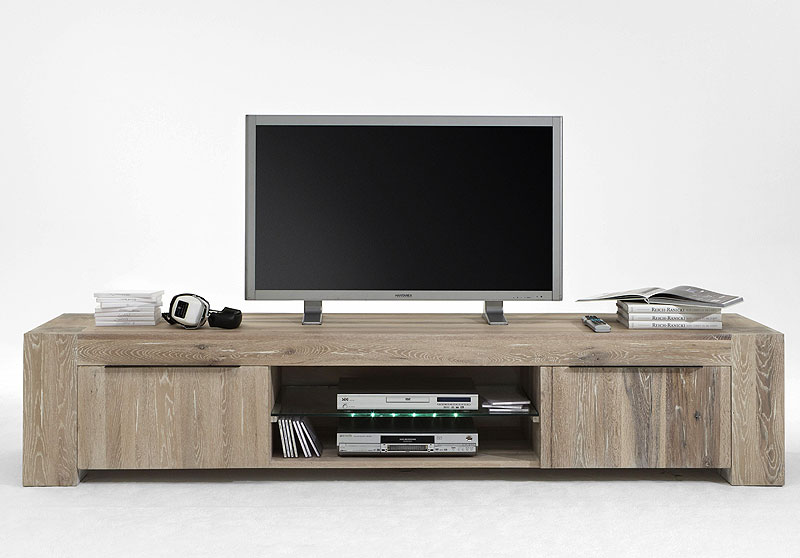 tv lowboard eiche massiv bigfoot weiss geoelt massivholz. Black Bedroom Furniture Sets. Home Design Ideas
