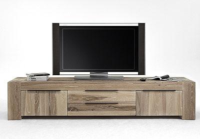TV-Lowboard - Eiche massiv weiß geölt - Bodahl Moebeler Bigfoot