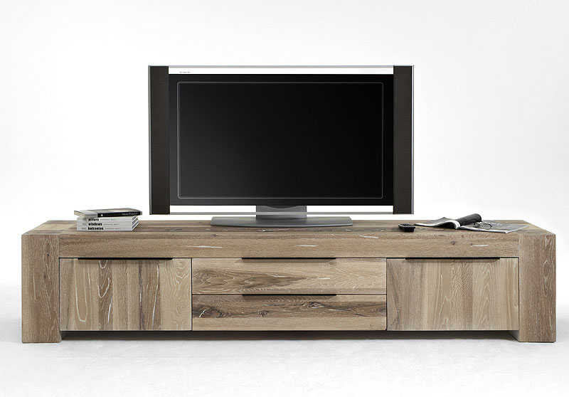 tv lowboard eiche massiv bigfoot white wash massivholz. Black Bedroom Furniture Sets. Home Design Ideas