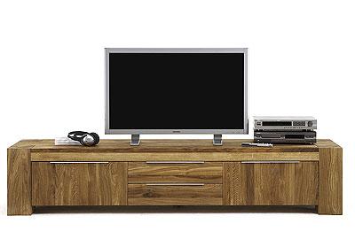 TV-Lowboard Wildeiche massiv Holz Grande Bodahl Moebeler