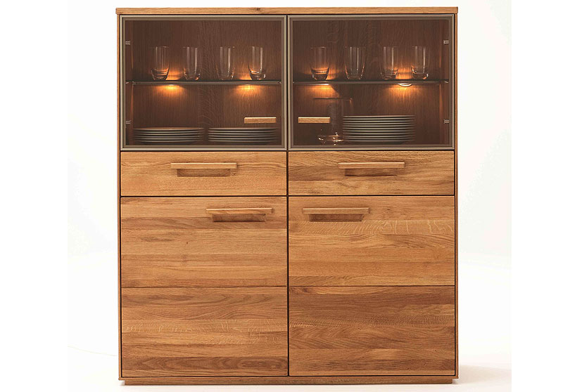 vitrinenschrank taro eiche massiv holz ge lt wimmer wohnkollektion massivholz m bel in goslar. Black Bedroom Furniture Sets. Home Design Ideas