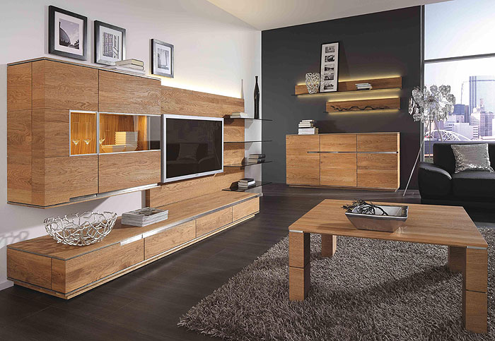 wohnwand accero asteiche massiv holz ge lt wimmer. Black Bedroom Furniture Sets. Home Design Ideas