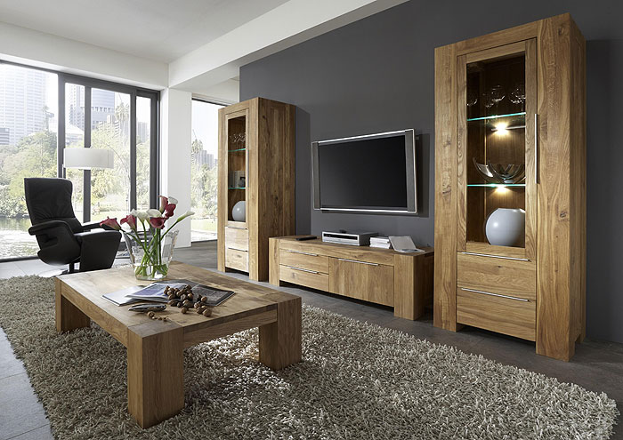 wohnwand wildeiche massiv gebrstet perfect wohnwand wildeiche massiv solido stilvoll wohnen. Black Bedroom Furniture Sets. Home Design Ideas