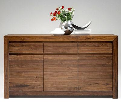 Sideboard Nussbaum massiv Holz Oberfläche geölt