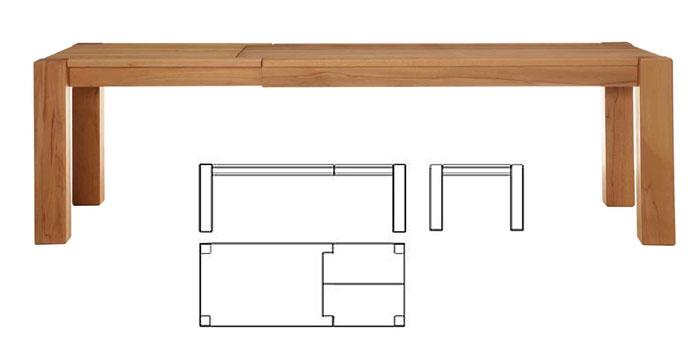 ausziehtisch tisch ausziehbar kernbuche massiv holz ge lt gulliver massivholz m bel in goslar. Black Bedroom Furniture Sets. Home Design Ideas