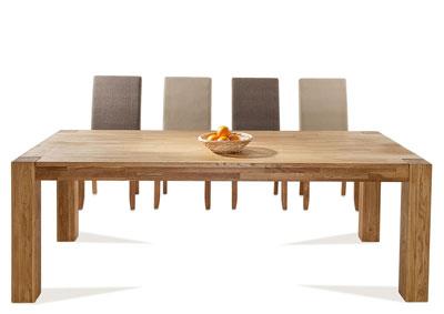 Esstisch Wildeiche massiv Holz Oberfläche geölt