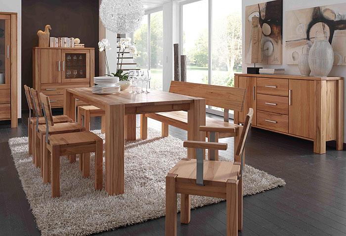 Speisezimmer Set Komplett Kernbuche Massiv Holz Gulliver