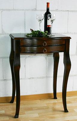 Telefontisch barock massiv Holz Pappel nussabum lackiert