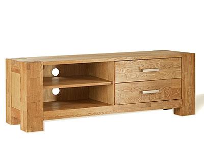 TV-Kommode Wildeiche massiv Holz Oberfläche geölt